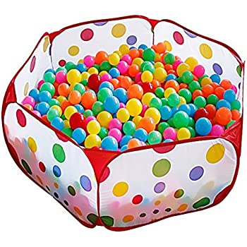 Kuuqa Kids Ball Pit Ball Tent Toddler Ball Pit With Red Zippered Storage  Bag For Toddlers
