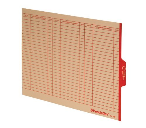 - Pendaflex Manila End Tab Outguides With Red Center Tab Printed Out, Letter Size, 100 Per Box,( 5251) by Pendaflex