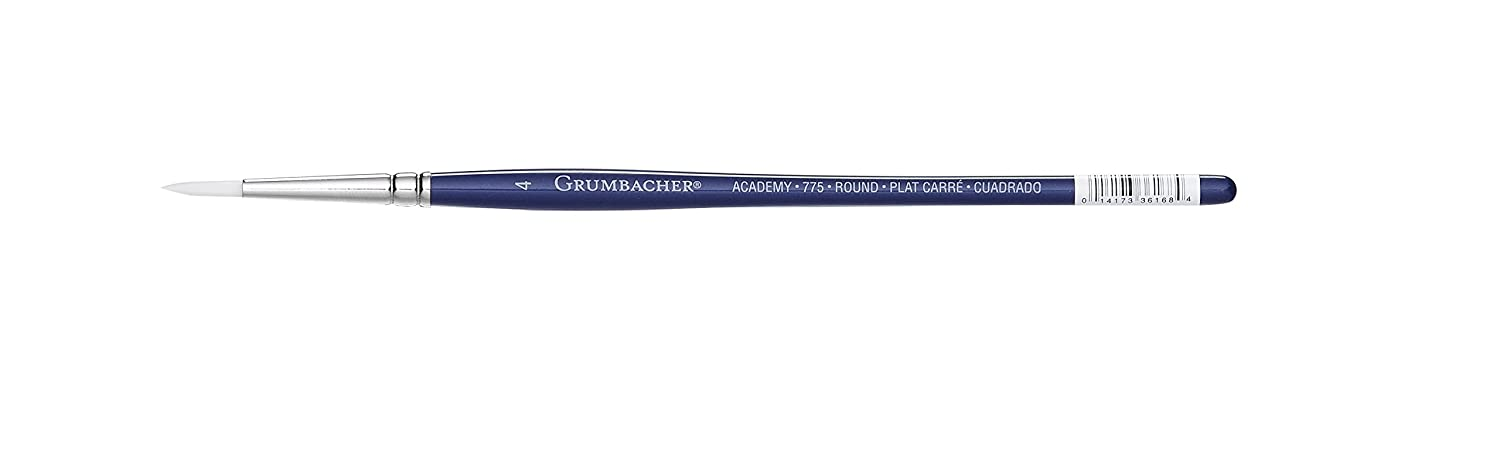 Size 5 775.5 Grumbacher Academy Watercolor Round Brush White Nylon Bristles