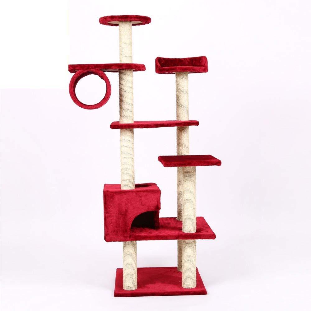 D Hongge Cat Tree, Cat Tower Tree Climbing Toy Cozy Pet Deluxe Multi Level Perches Platform 160cm