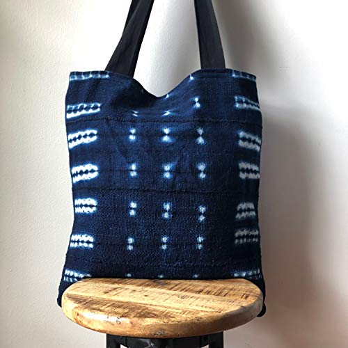 African Mudcloth Tote Bag - Canvas Bag- - 18