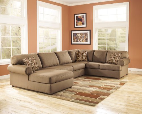 Ashley 30703-67-34-16 Cowan Sectional Sofa with Right Arm Facing Sofa Armless Loveseat and Left Arm Facing Corner Chaise in