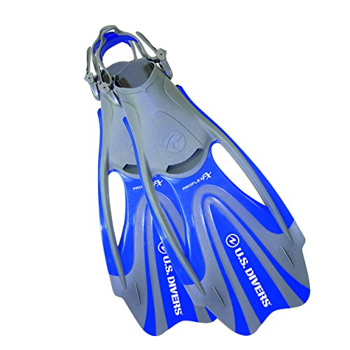 U.S. Divers Proflex FX Scuba Dive Fins - Blue, Size - Large Men (10-13) Lady ( 11.5-14.5) (Diving Long Flippers)