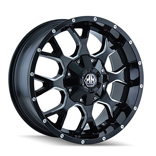 Mayhem Warrior 8015 Black Wheel with Milled Spokes (20×9″/10x127mm)