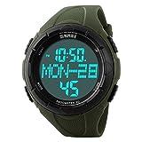 Auspicious beginning Waterproof 3d pedometer odometer running walking calorie counter sport watch, army green