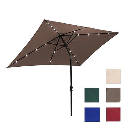 ADA Kosycosy 6.6X10 ft Rectangular Patio Umbrella Outdoor Market Umbrella,  with Tilt Adjustment and - Amazon.com : ADA Kosycosy 6.6X10 Ft Rectangular Patio Umbrella