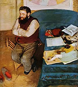 OdsanArt 12 x 33,02 cm Impresionismo retratos People 'Diego martelli' by Edgar Degas Póster de artstore