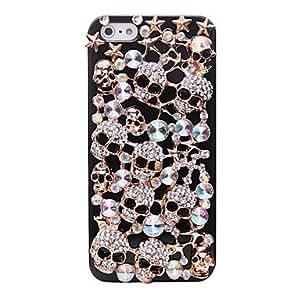 ZCL-Color fresco del modelo del cráneo del metal de la joyería de nuevo caso para el iPhone 5/5S Diamond