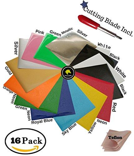 Unicorn Crafts Heat Transfer Vinyl Assorted PU Colors 16