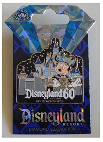 Disneyland 60th Anniversary Diamond Celebration Minnie Mouse Sleeping Beauty Castle Trading Pin (Disney Pin 60th Anniversary)