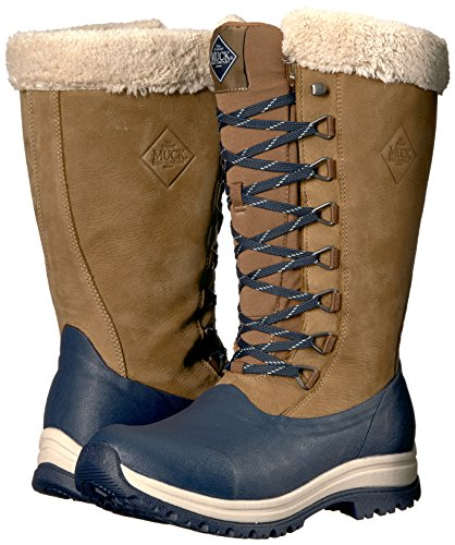 Muck Boot Women's Apres Lace Tall (13'') Work Boot, Otter/Total Eclipse, 7 M US by Muck Boot (Image #6)