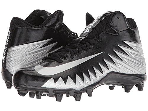 ベストズームお別れ(ナイキ) NIKE メンズフットボール?アメフトシューズ?靴 Alpha Menace Varsity Mid Black/Metallic Silver/White 10 (28cm) D - Medium