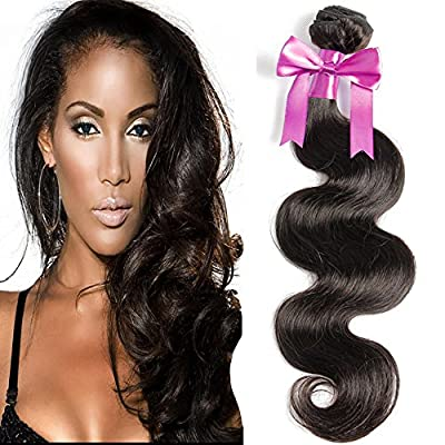 "uSTAR Virgin REMY BODY WAVE Bundle Brazilian Human Hair unprocessed WAVY Best Quality Hair Extensions 100% Virgin Hair Weave Convertible to Clip In Extension Weft Track 8""-30"""