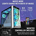 MUSETEX-2-USB-306-PCS-ARGB-FansMid-Tower-CaseTempered-Glass-PanelsVoice-Remote-ControlPC-Gaming-Case-Computer-Chassis-Support-E-ATX-MU3-MN6W-14