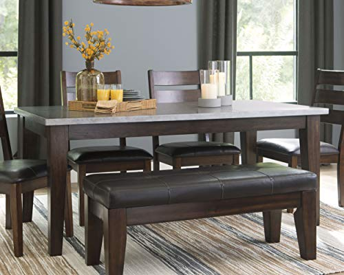 Signature Design By Ashley - Larchmont Dining Room Table - Burnished Dark Brown