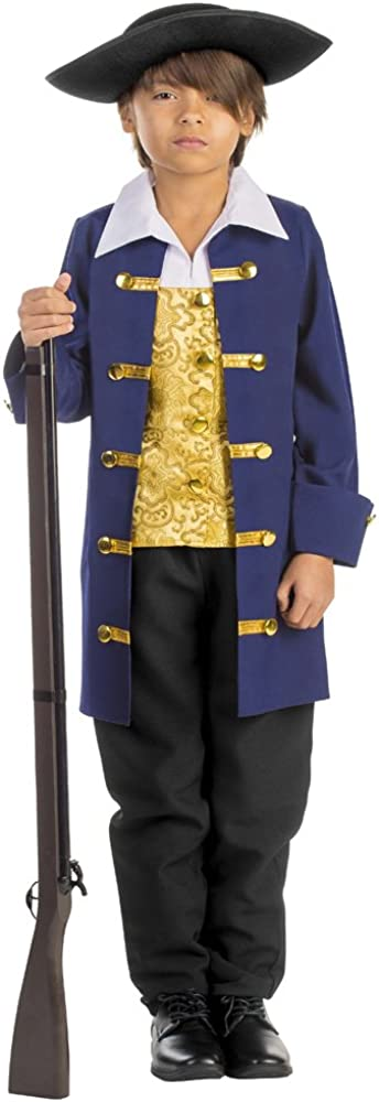 Dress-Up-America Boy's Colonial Aristocrat Costume - Authentic Revolutionary War Costume For Boys