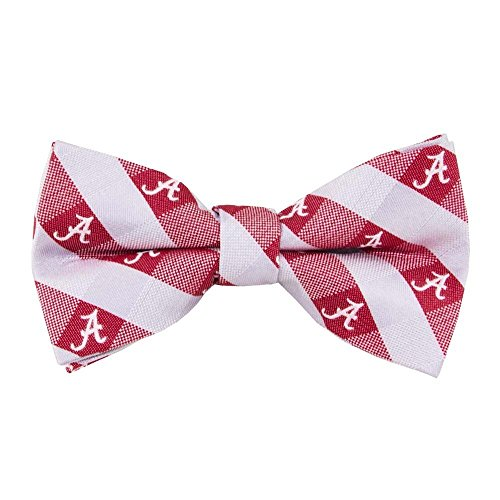 Alabama Crimson Tide Checked Logo Bow Tie - NCAA College Team Logo