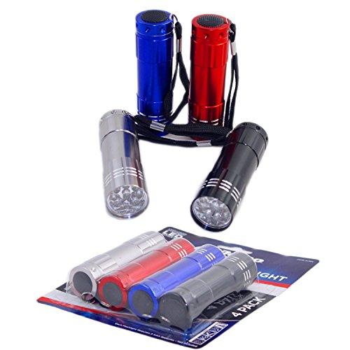 Set of 4 LED Flash Lights, High Density White Led,