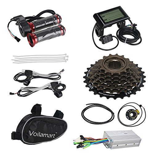 Voilamart 26'' Rear Wheel Electric Bicycle Conversion Kit, 48V 1000W E-bike Hub Motor with LCD Display w/ Intelligent Controller 750W Power Limited Secret Wire for Road Bike by Voilamart (Image #6)