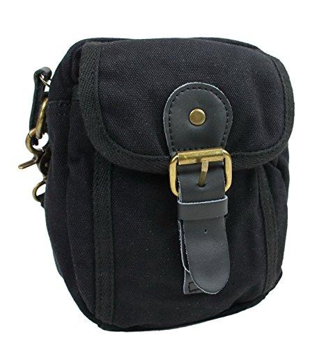 small-cotton-canvas-sports-waist-pack-shoulder-bag-c37blk