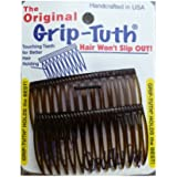 """Good Hair Days Grip Tuth Combs 40405 Set of 2, Tortoise Shell Color 2 3/4"""" Wide"""