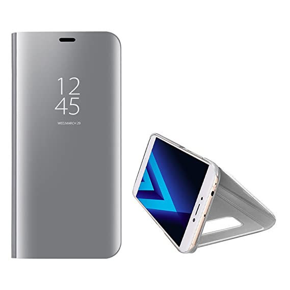 brand new d4e32 46926 Galaxy A5 2017 Mirror Case,Shinetop Slim Fit Electroplate Plating Smart  Clear View Standing Case PC Flip Cover Full Body Shock Absorbent Protective  ...