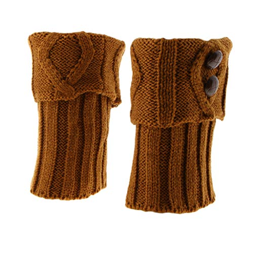 IPOTCH 1 par de Botines Calzas Punto Ganchillo Mujer Toppers ...