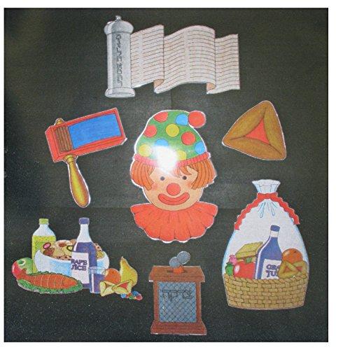 Kid Drawn Purim B.B. Set 7 Pc. - Kid Drawn Bb Set
