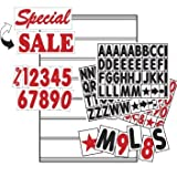 Sidewalk Sign Replaceable Letter Set - Perfect for sandwich boards! Don't be caught short on changeable sign letters and numbers!