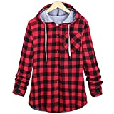Liraly Womens Tops Womens Long Sleeve Plaid Cardigan Jacket Blouse Autumn Shirt Sweater Casual Coats