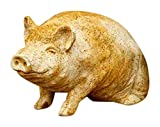 OrlandiStatuary FS8153 Wilber Pig Sculpture, 8″, Pompeii Finish For Sale