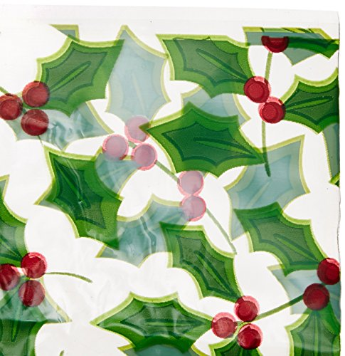 Cookie Tray Bags (Holly Christmas Multicolored Cookie Tray Bags, 6 Ct. | Party)