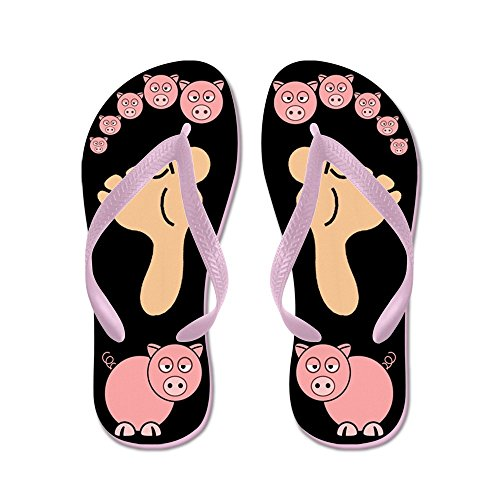 Cafepress Dit Kleine Piggy - Flip Flops, Grappige String Sandalen, Strand Sandalen Roze