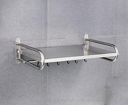 MAIKA HOME - Estuche de ollas/estantes de cocina de acero inoxidable/Suministros de cocina Estante de almacenamiento/estante para microondas (tamaño: 38 * 18 * 58cm): Amazon.es: Hogar