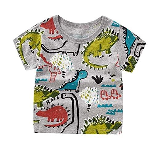NIDONE Children's boy wear T-shirt meisje korte mouw zomer cartoon puur katoen afdrukken blouse mooie witte 100cm