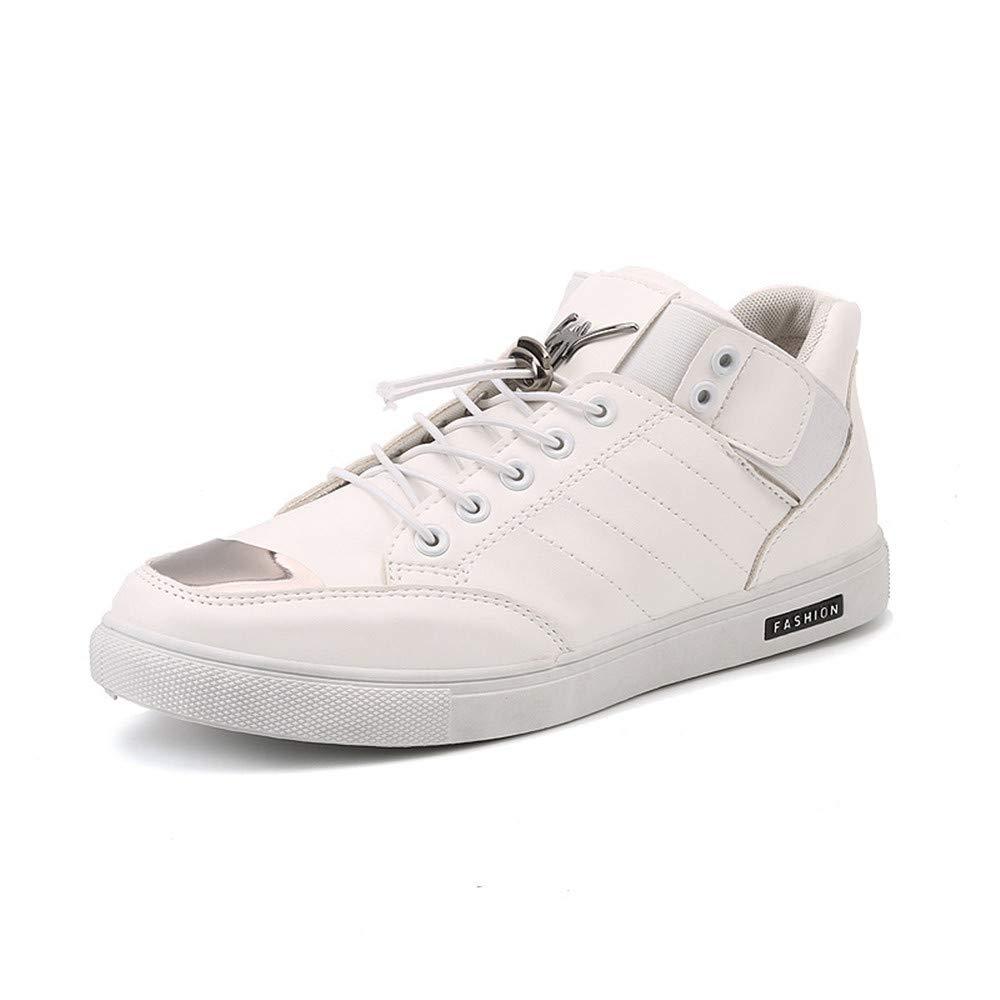 schuheDQ Casual Herrenschuhe Leder Weiß Weiß Weiß Vier Jahreszeiten können Board Schuhe tragen Freizeit 39956f