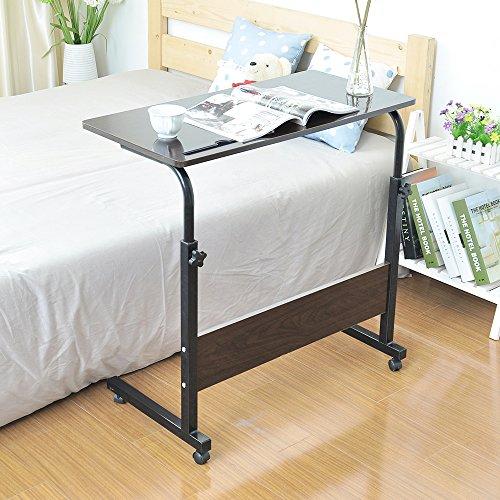 SogesHome Adjustable Mobile Bed Table 31.5
