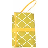 Baby Bucket Portable Foldable Baby Kid Changing Mat Pad Cover Change Nappy Bag Travel Pocket (0-3 Months, Green)