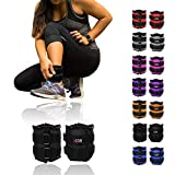 Xn8 Sports Ankle Weights Adjustable Strap Resistant 0.5kg 0.75kg 1kg 1.5kg 2kg 2.5 kg 3kg 4kg 5kg Leg Wrist Running Cross Fitness Gym Training Exercise (Purple, 1Kg Pair = (1 x 2 = 2Kg))