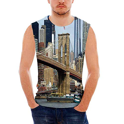 n T- Shirt,Skyline of Brooklyn New York U S A Cityscape Bridge ()