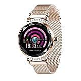 Cobcob Women's Smart Watch 2019 Sport Fitness Waterproof Ladies Smart Bracelet Wristwatches Blood Pressure Activity Tracking Gift for Women (Rose Gold)