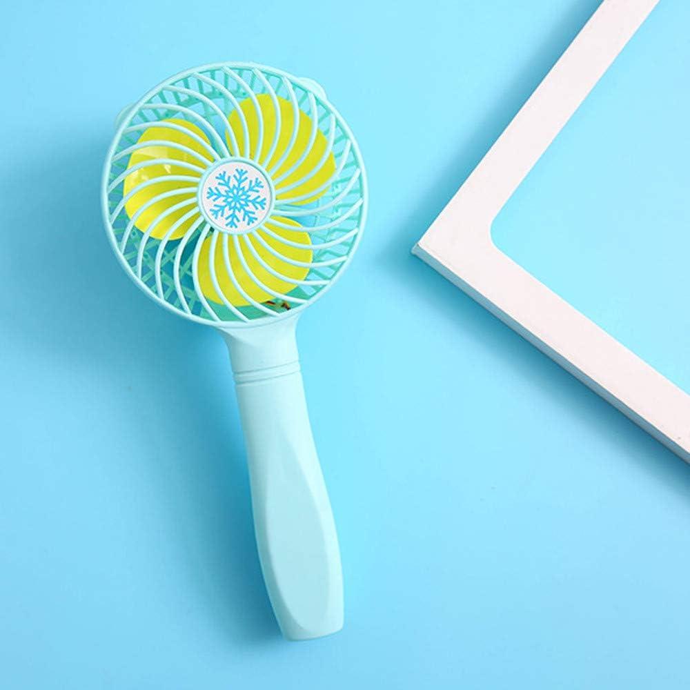 Lelili Mini Portable Hand-held Fan Cooler Cooling USB Rechargeable Portable Mini Fan Summer Home Office