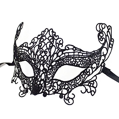 Costume Makeup Fox Eye (Creatier Lace Straped Fox Eye Mask Women Bars Nightclub Halloween Prop Sexy Mask Carnival Easter)