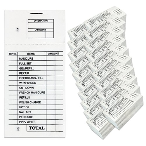 Beauticom 400 Packs Numbered 1 to 100 pages Professional Nail Spa Salon Ticket Sales Order Check Booklet Pads