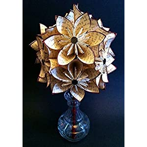 """A Dozen""""I Love You's"""" - 12 paper flowers, custom gift, 1st anniversary, gifts for her,bouquet, origami, red rose, made to order 2"""