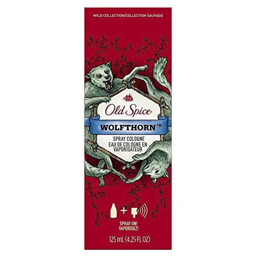 Old Spice Wild Collection Wolfthorn Scent Men's Cologne Spray 4.25 Oz (Pack of 2)