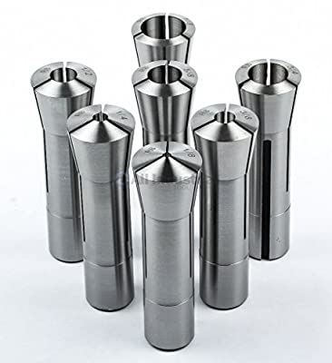 """7 Pc Fractional R8 Collet Set 1/8"""" to 7/8"""" High Precision for Bridgeport 7 Piece by All Industrial Tool Supply"""