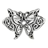 Sterling Silver Butterfly Pentagram Pentacle Ring Size 6