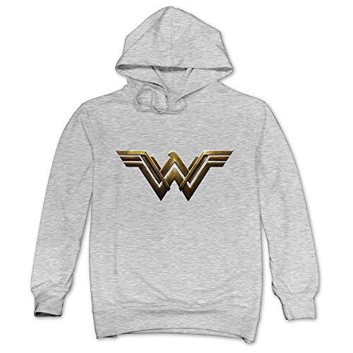 e League New WW Wonder Women Logo Hoodie Ash XXL ()