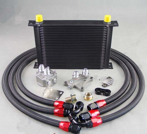 GOWE 28 ROW OIL COOLER KIT FOR NISSAN Silvia S13 S14 S15 180SX 200SX 240SX SR20DET Black